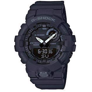 Casio G-Shock sort resin (5554) multifunktions quartz Herre ur, model GBA-800-1AER