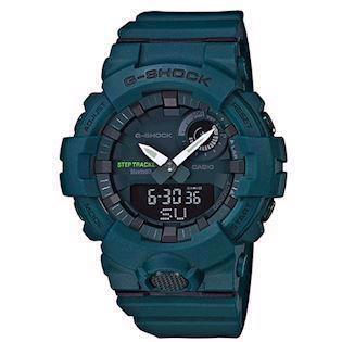 Casio G-Shock grøn resin (5554) multifunktions quartz Herre ur, model GBA-800-3AER