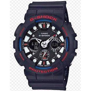 Casio G-Shock sort resin med stål quartz multifunktion (5229) Herre ur, model GA-120TR-1AER