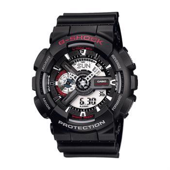 Casio G-Shock Sort resinplast Batteridrevet quartz Herre ur, model GA110 1AER
