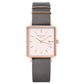 Rosefield The Boxy Collection rosa forgyldt stål Miyota quartz dame ur, model QWGR-Q12