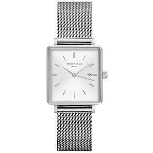 Rosefield The Boxy Collection blank stål quartz dame ur, model QWSS-Q02
