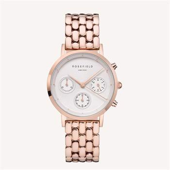 Rosefield The Gabby Collection rosa forgyldt stål Miyota quartz dame ur, model NWR-N91