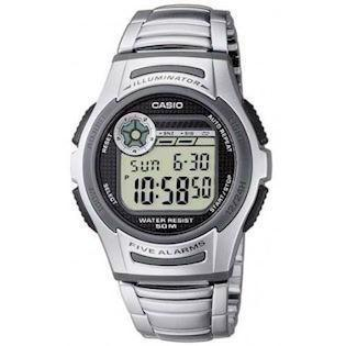 W-213D-1AVES, Casio Collection stål unisex ur