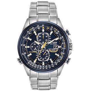 Citizen Promaster Sky Blue Angels mat rustfri stål Eco drive radio controlled quartz Herre ur, model AT8020-54L