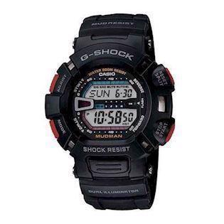 G-9000-1VER Casio G-Shock The Mudman sort med rødt