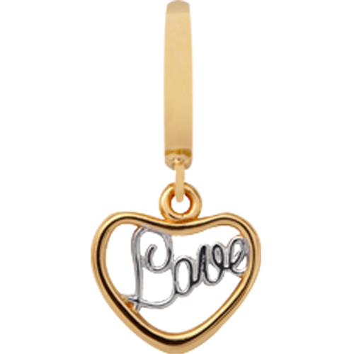 610-G16 , Heart Love Charm fra Christina Design London