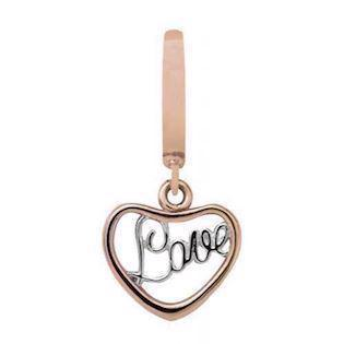 Rose Heart Love Charm fra Christina Design London