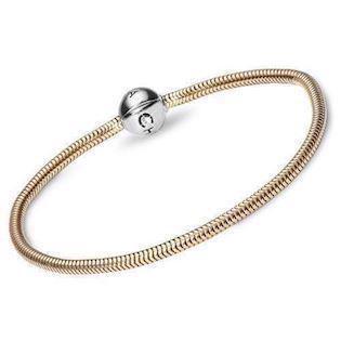 0799c1ef502 Christina sølv kampagne armbånd med forgyldt sølv rose charm - KUN ...