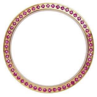 Christina Design London Collect Forgyldt Top Ring med 54 Pink Safirer