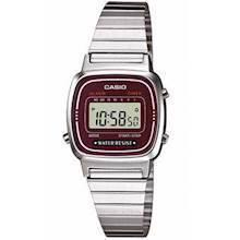 LA-670WEA-4EF Casio Collection Dameur<br>stål med bordo urskive