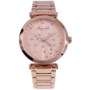 Kenneth Cole  rosaforgyldt stål Quartz Dame ur, model KC0019