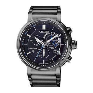 Citizen Sporty Eco-Drive sort rustfrit stål Eco drive quartz Herre ur, model BZ1006-82E