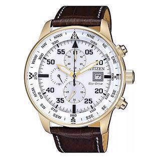 Citizen Eco-Drive Chronograph forgyldt Eco drive quartz B612 Herre ur, model CA0693-12A