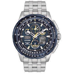 Citizen Promaster Sky Blue Angels mat rustfrit stål Eco drive radio controlled quartz Herre ur, model JY8058-50L