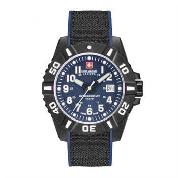Swiss Military Hanowa Black Carbon Sort  Rustfri Stål quartz med tre visere herre ur, model 6430917003